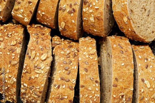 Fotografering multigrain bread