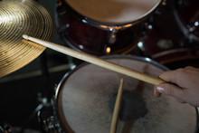 Professional Drum Set Closeup....