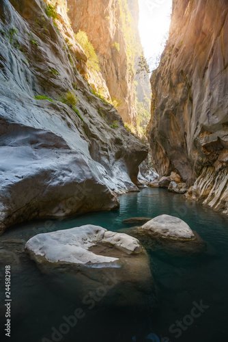 Garden Poster Brown Amazing view of Goynuk canyon, Antalia, Turkey. Landscape photography
