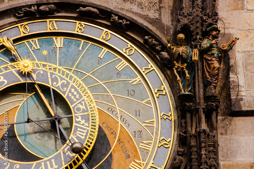 Photo Stands Prague astronomical clock in prague