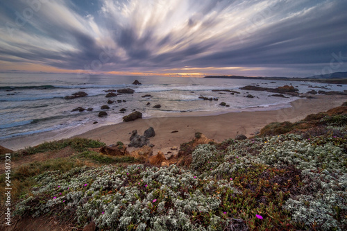 Photo  Pacific Ocean Sunset