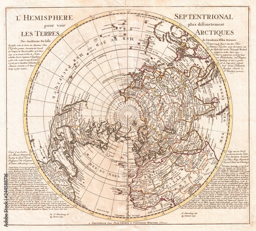 1741-mapa-covensa-i-mortiera-na-polkuli-polnocnej-biegun-polnocny-arktyka
