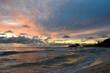 Coloured sunset on Seyshells island. Sea, summer, cloud, sky