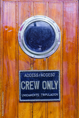 Crew Only Access, Naval School Ship Wall mural