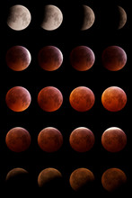 Total Lunar Eclipse On January 21, 2019, Photographed From Mannheim In Germany.