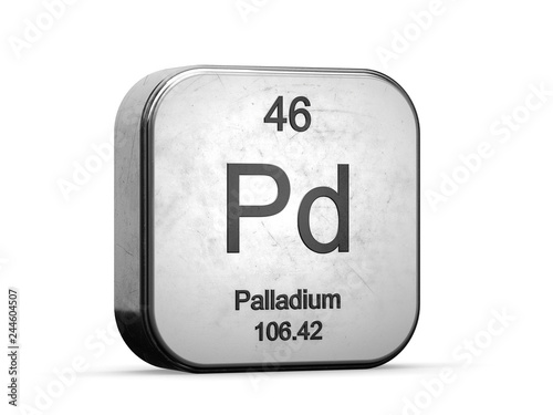 Palladium element from the periodic table series Canvas-taulu