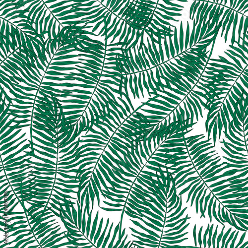 Ingelijste posters Tropische Bladeren Tropical leaves seamless pattern, vector