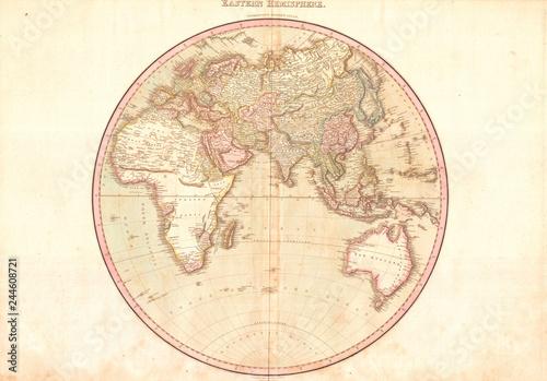 Map of the Eastern Hemisphere, Asia , Africa , Europe ...