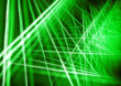 canvas print picture - Background of green intersecting beams