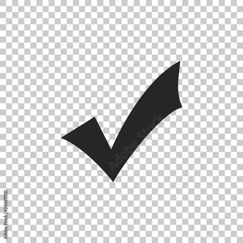 Fotografie, Obraz  Check mark icon isolated on transparent background