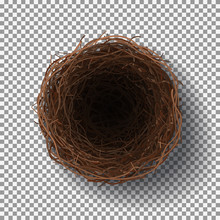 Wicker Nest Isolated On Transp...