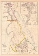 1858, Dispatch Atlas Map Of Eg...