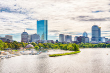 Boston, Massachusetts City Skyline