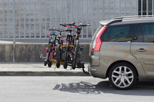 Car With A Bicycle Rack Transp...