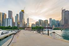Downtown Chicago Along Lake Michigan