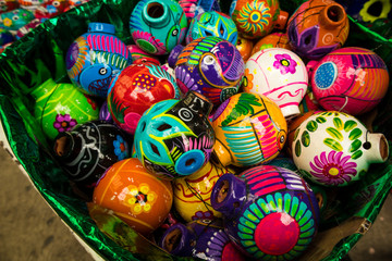 Fototapeta na wymiar Colorful Mexican Christmas Ornaments