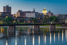 Harrisburg, Pennsylvania Night Skyline