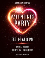 Valentines Day Party Flyer Or ...
