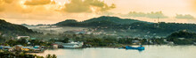 Panorama Of Coxen Hole, Roatan...