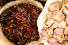 Chilis And Garlic For Sale At ...