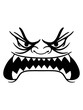 canvas print picture - fressen großer mund gefährlich böse monster augen horror hunger gesich lustig comic cartoon clipart design