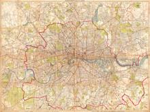 1899, Bartholomew Fire Brigade, Map Of London, England