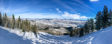 Wasatch Mountains At Winter Time