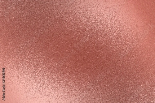 Fotografía  Texture of rough old red metal wall, abstract background