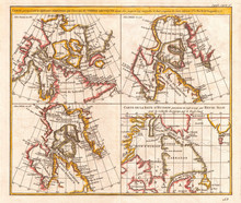 1772, Vaugondy, Diderot Map Of The Hudson Bay And The Arctic