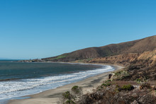 Panoramic Nicholas Canyon Beach Vista In The Aftermath Of The Woolsey Fires, Malibu, California