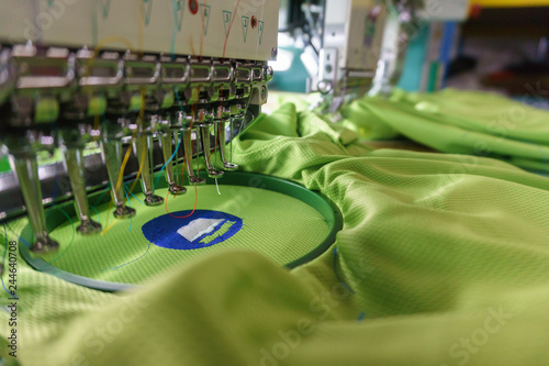 Embroidery machine needle in Textile Industry at Garment Manufacturers, Embroide Canvas Print