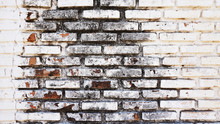 Old White Brick Texture Wall W...