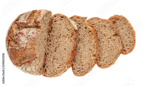 Cuadros en Lienzo Sliced bread isolated on  white background