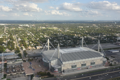 Foto op Canvas Stadion View of Alamodome from Tower of the Americas in San Antonio, Texas