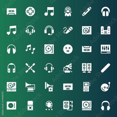 Fotografía  stereo icon set