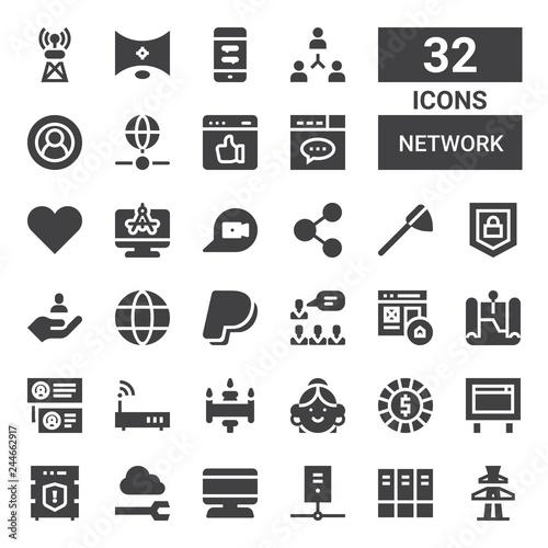 Photo  network icon set