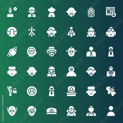Photo  avatar icon set