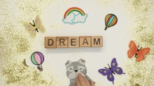 Dream Word On Cubes Made By Ch...