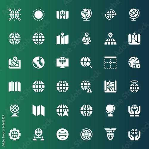 Fotografía  continent icon set