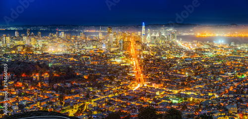 Fototapety, obrazy: Panoramic view of the San Francisco city.