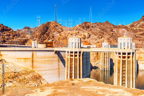 Keuken foto achterwand Verenigde Staten Famous and amazing Hoover Dam at Lake Mead, Nevada and Arizona Border.
