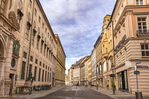 Foto Munich Germany, Residenz Street the fomous shopping area