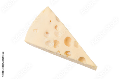 Fotografie, Obraz  Cheese block isolated on white background cutout