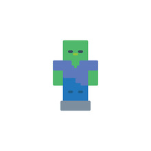 Pixelated Robot Lflat Icon, Ve...