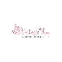 Tailor Sewing Vintage, Needle, Yarn, Fashion, Retro Logo Template Vector Design