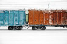 Railway, Freight Train Winter Season, Snow