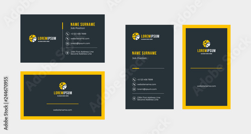 Double-sided creative business card template Fototapete