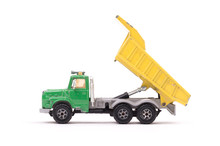 Dump Truck Toy Isolated