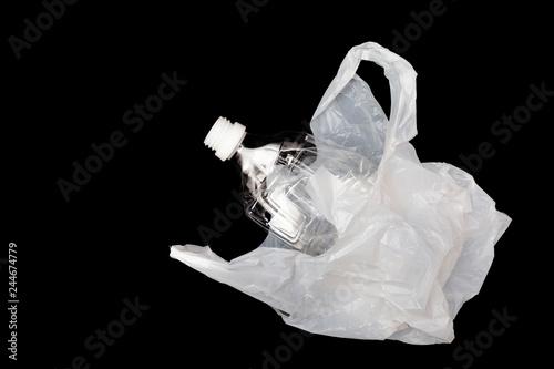 Fotografie, Obraz  ペットボトルとレジ袋