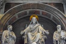 A Sculpture Featuring Jesus, S...